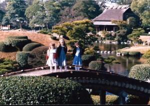 We made many trips around Kyushu, including Fukuoka and Kumamoto.  Here are the girls at Suizanji Park in Kumamoto