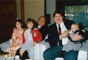 The children got a special visit with the then-Governor of Oita, Morhiko Hiramatsu.