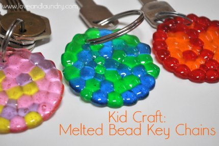 melted bead key chains1