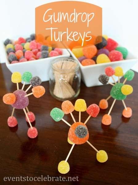 Thanksgiving-Crafts-Gumdrop-Turkeys-eventstocelebrate