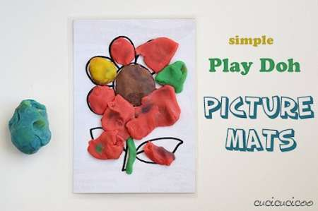 Make Your Own Play Doh Picture Mats