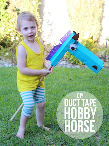 DIY Duct Tape Hobby Horse
