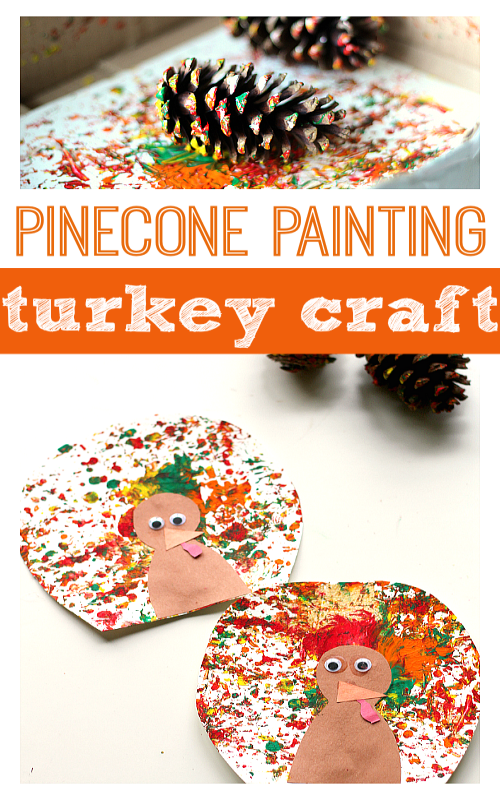 Pine Cone Painting & Thanksgiving Turkey Craft