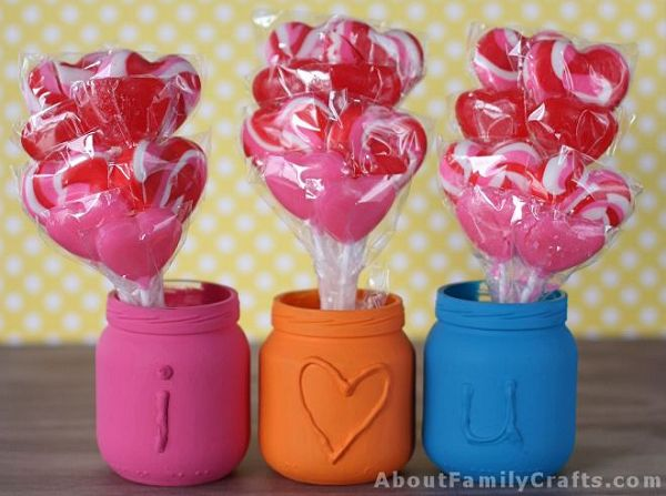 Embossed Jars for Valentine's Day