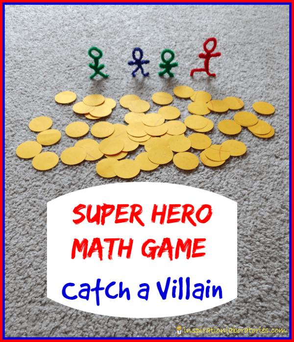 Super Hero Catch a Villain Math Game