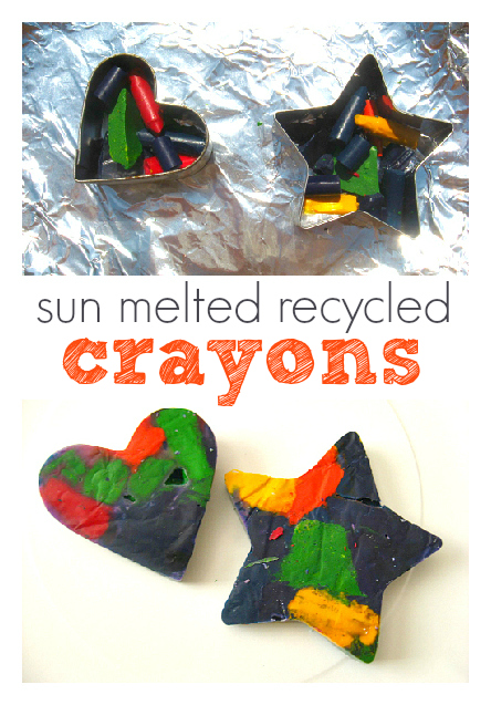Sun Melted Recycled Crayons