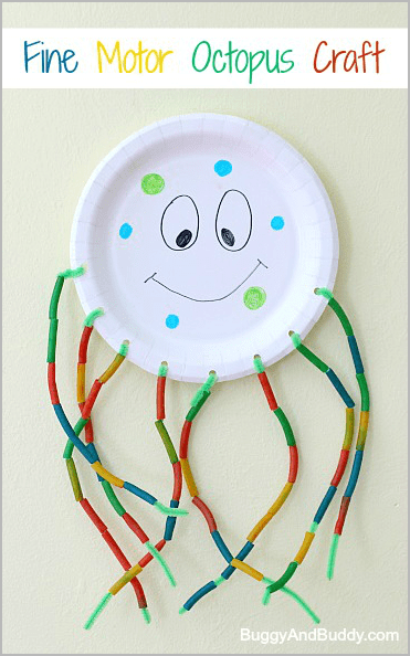 Fine Motor Octopus Craft for Kids