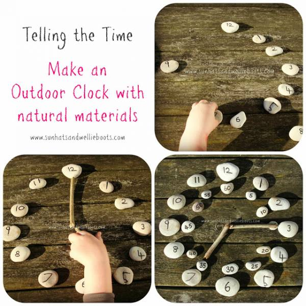 Outdoor Clock made with Natural Materials