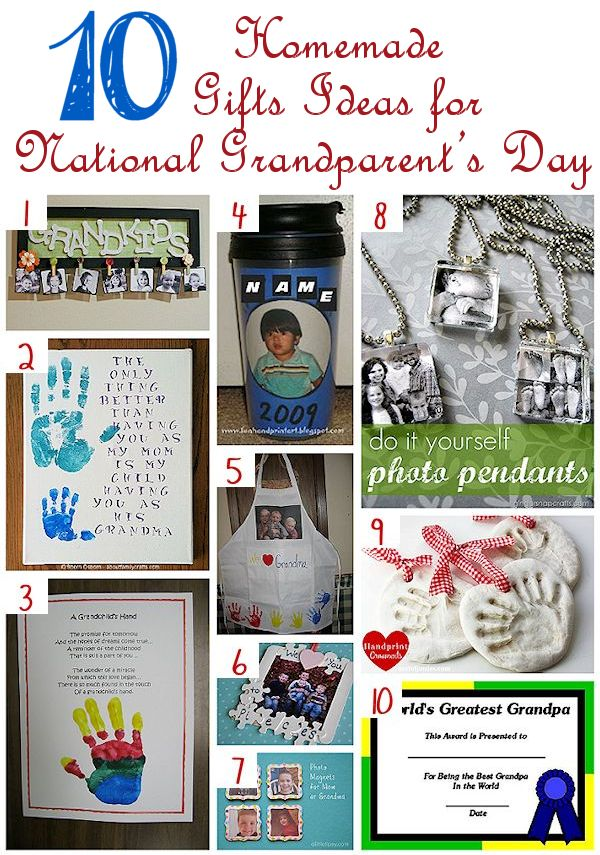 Let Kids Make Gifts National Grandparent's Day