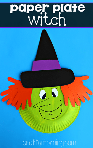 paper-plate-witch-craft-for-kids