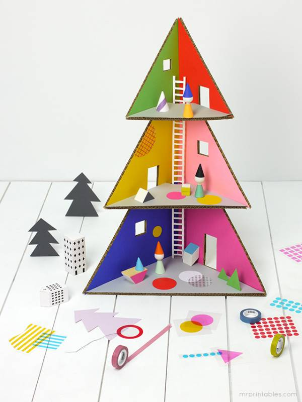 Free printable christmas tree doll house lesson plans - Arboles de navidad originales ...
