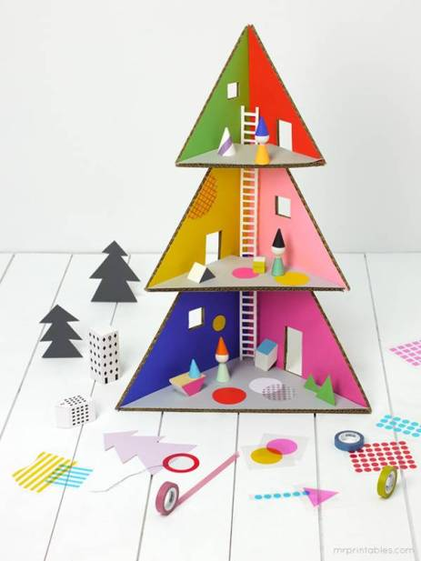 christmas-tree-cardboard-doll-house