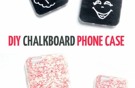 DIY Chalk Board Phone Case