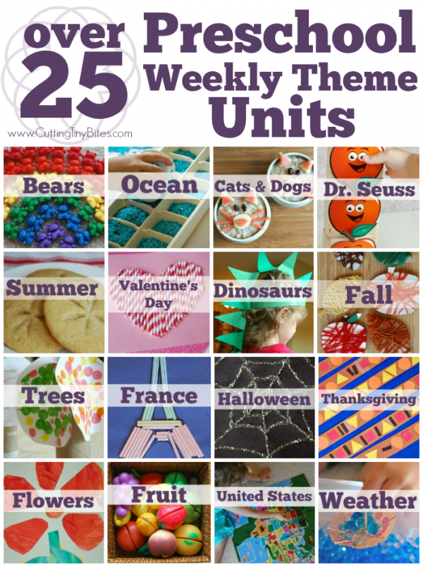 More than 30 preschool theme units and craft ideas for kids.