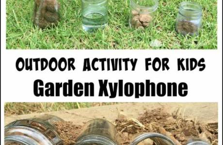 Make a Garden Xylophone from Natural Materials