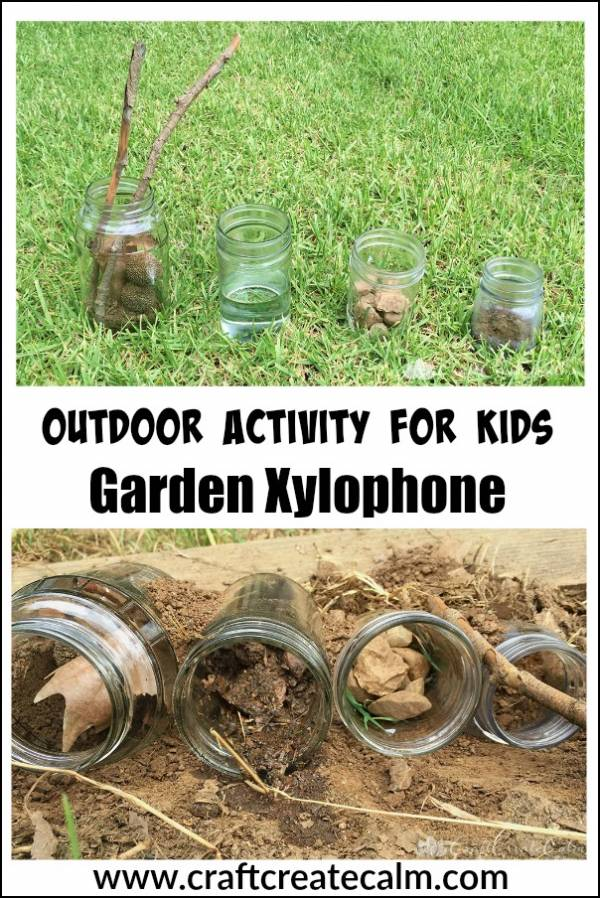 make a garden xylophone with natural materials