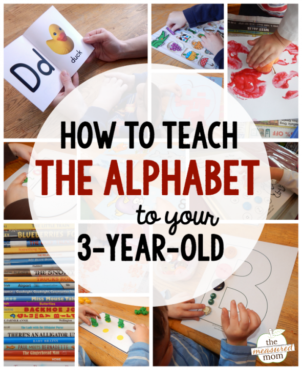 activities for teaching the alphabet to a three-year-old