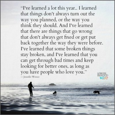 Lessons Learned in LifeI've learned a lot this year. - Lessons Learned in Life