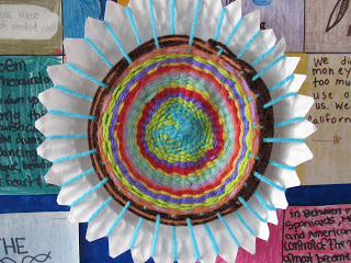 Paper Plate Weaving & Facebook
