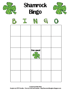Shamrock BINGO freebie & Linky Party!