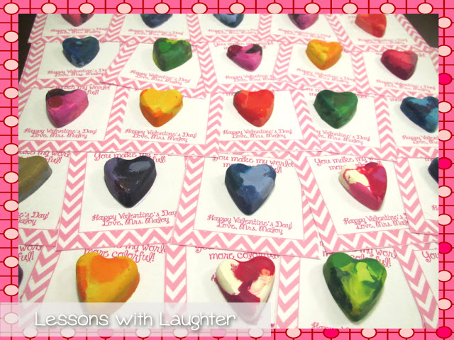 Heart Crayons - A Valentine's Day gift that is perfect for kids of any age!