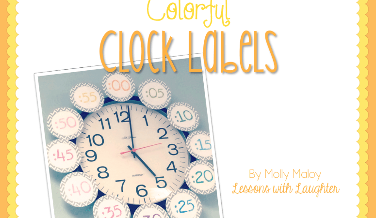Colorful Clock Labels FREEBIE!