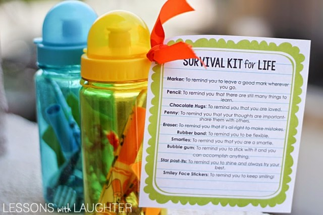 Survival Kit for Life: An end-of-the-year gift for students