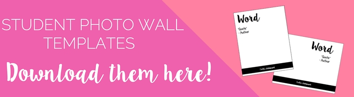 Student Photo Wall Templates for creating your own photo wall for your classroom!