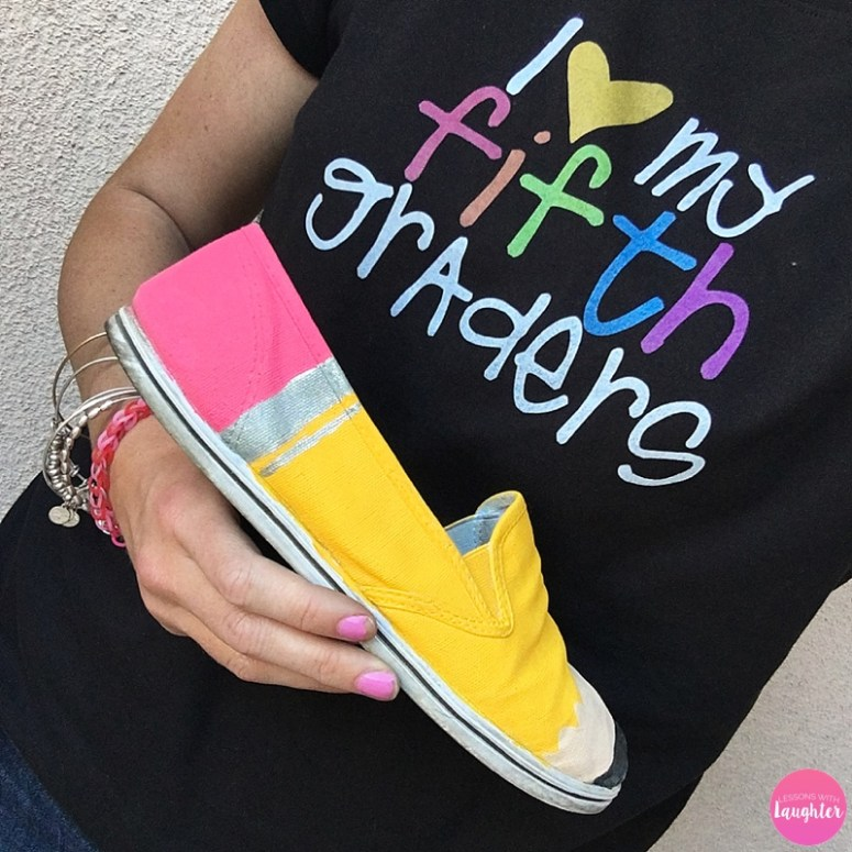 Pencil shoe tutorial: A great summer project for teachers!