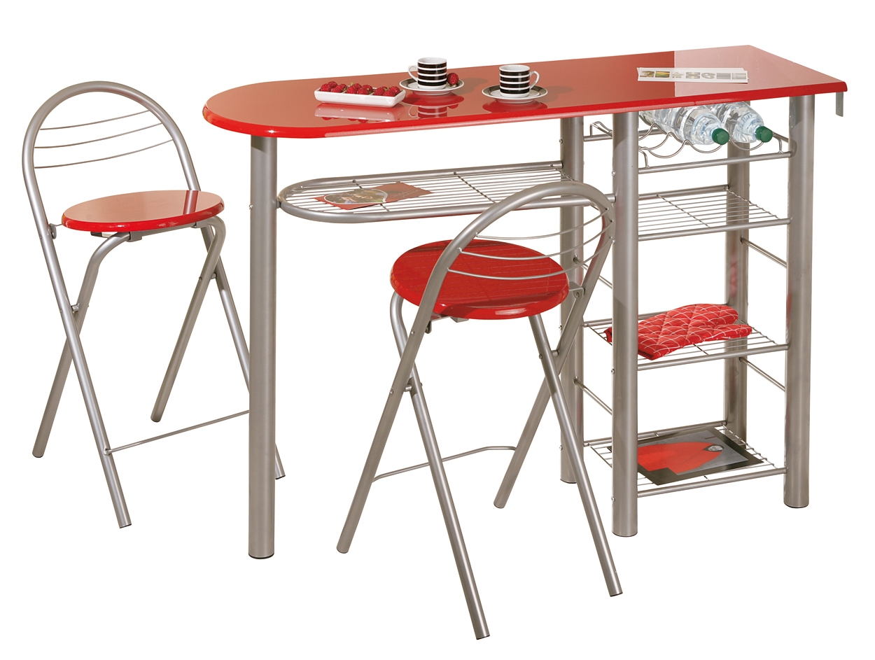 Table De Bar Brigitte + 2 Tabourets Rouge Table Bar Et 2 Tabourets Table De Bar Avec 2 Chaises