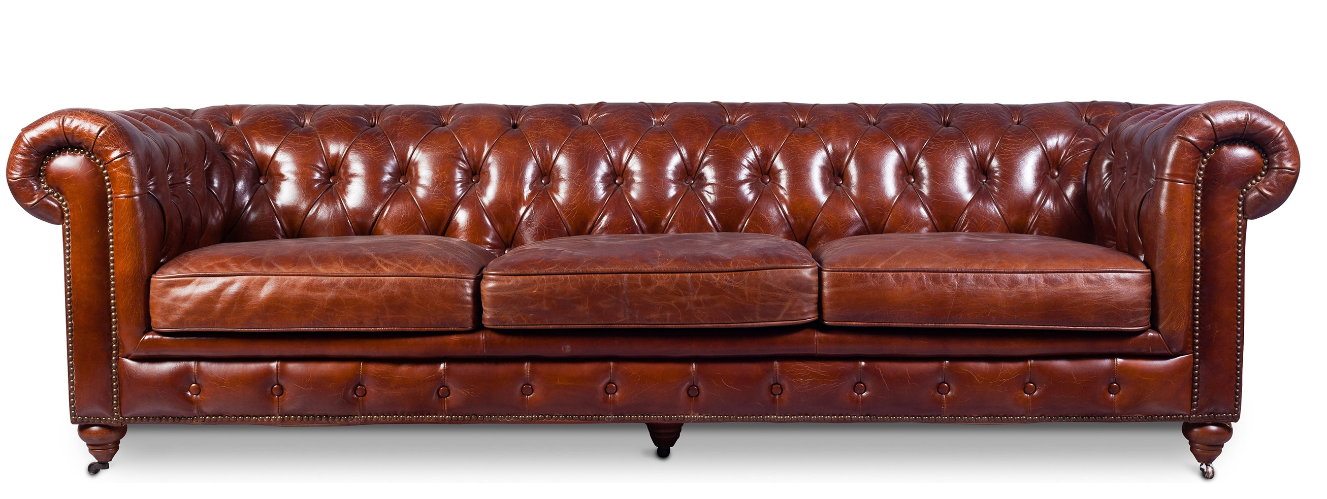 Canapé Cuir Brun Canapé 4 Places Cuir Marron Clair Chesterfield Lower