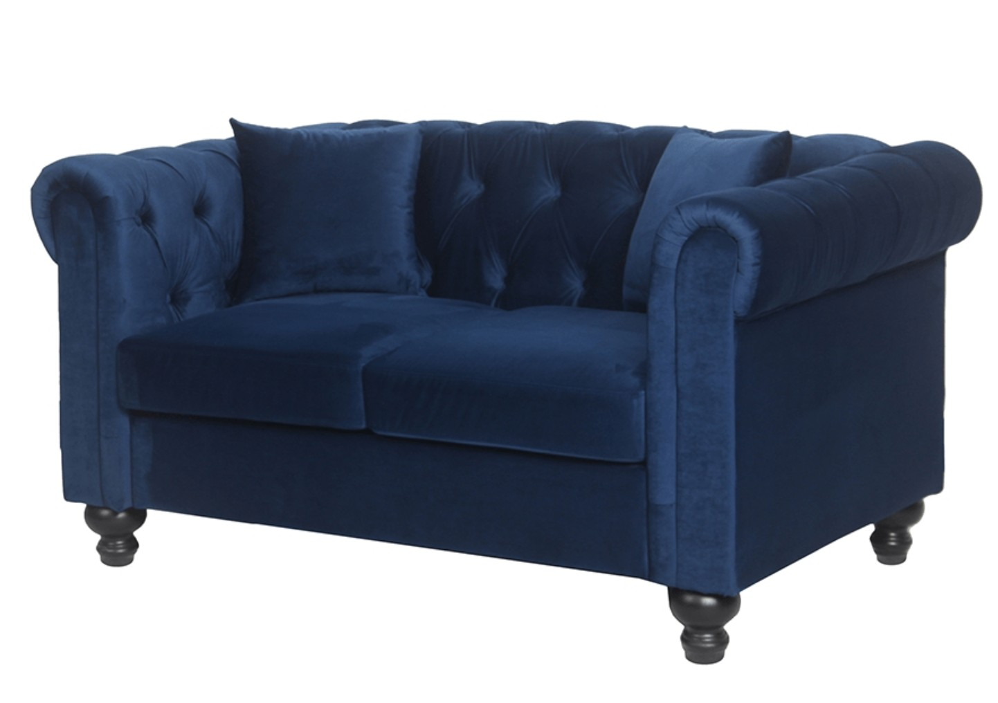 Canapé Chesterfield 2 Places Canapé Chesterfield 2 Places Velours Bleu British