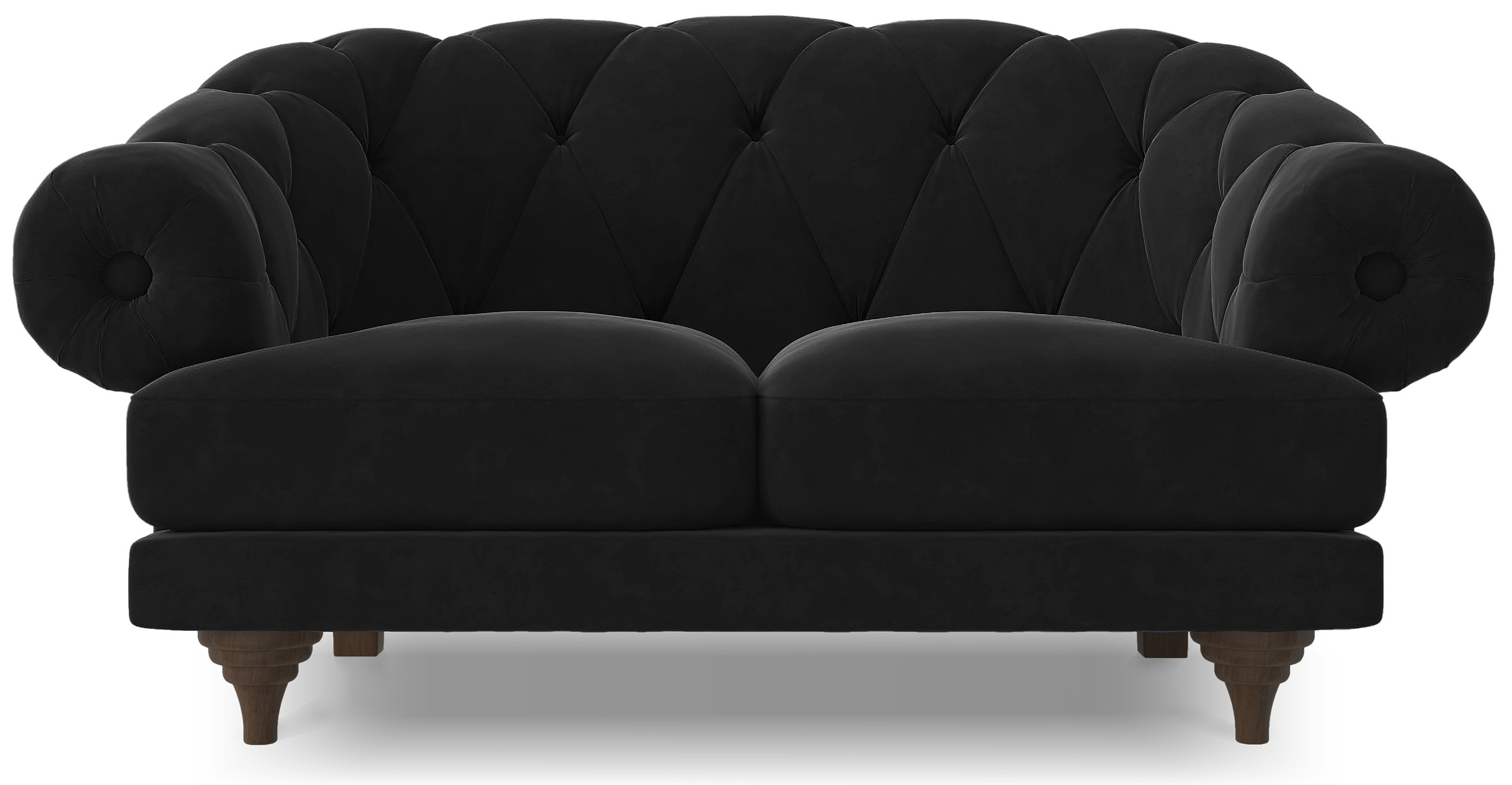 Canape Chesterfield De Qualite Canapé Ultra Confortable Velours Noir Chesterfield