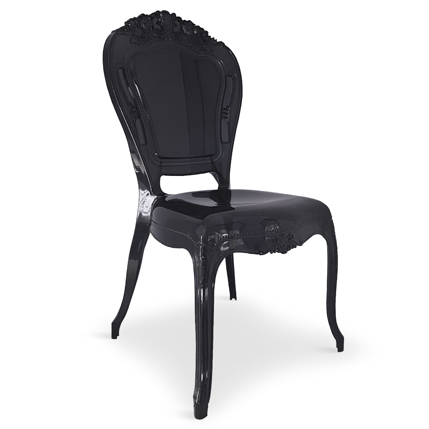 Chaises Noir Chaise Plexi Noir King Lot De 2 Lestendances Fr