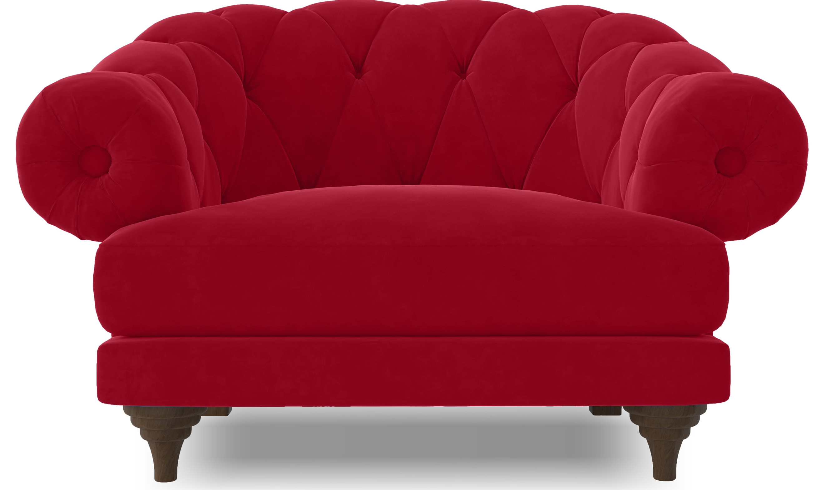 Fauteuils Chesterfield Rouge Fauteuil Ultra Confortable Velours Rouge Chesterfield