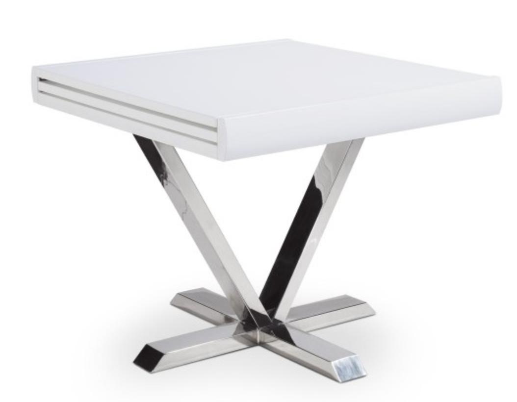 Table Blanche Extensible Table Carrée Extensible Blanche Selena 90-180 Cm
