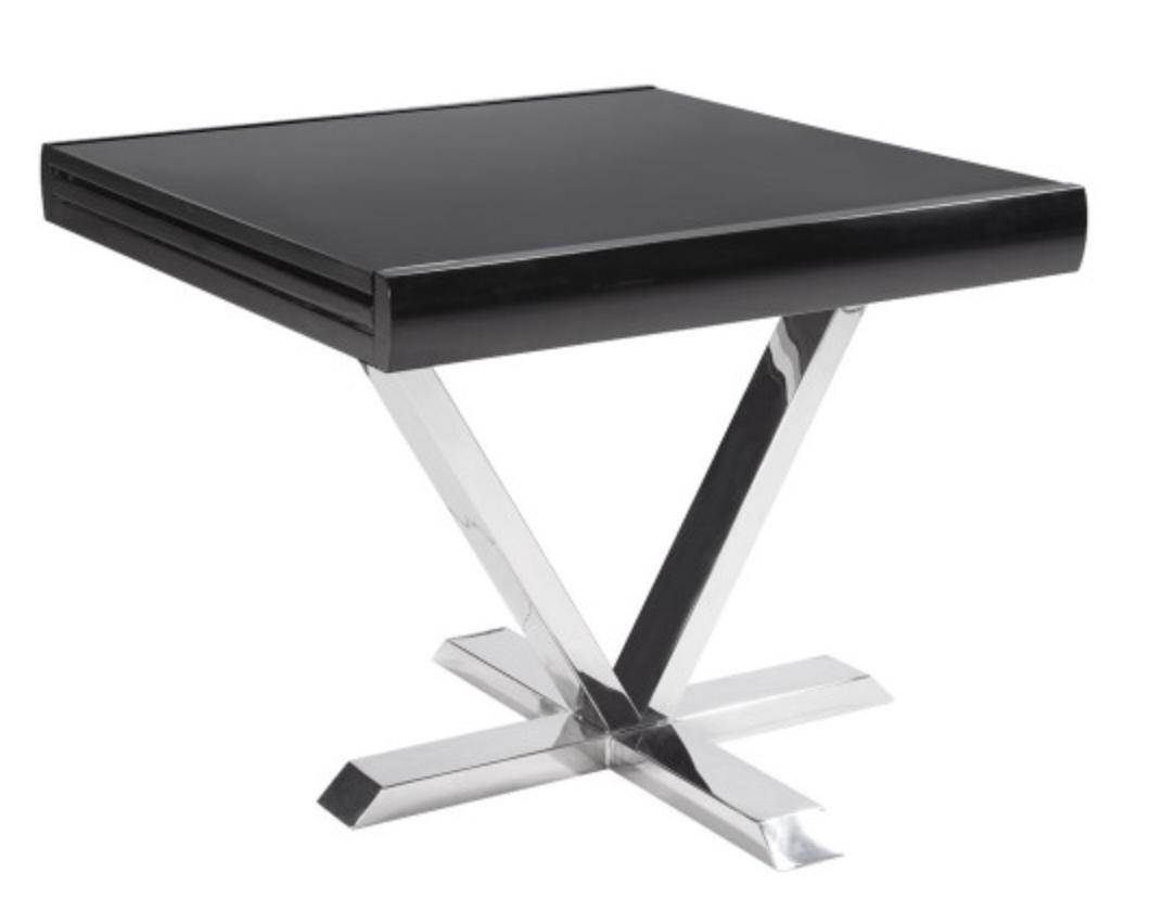 Table Ronde Extensible Noir Table Carrée Extensible Noir Selena 90 180 Cm