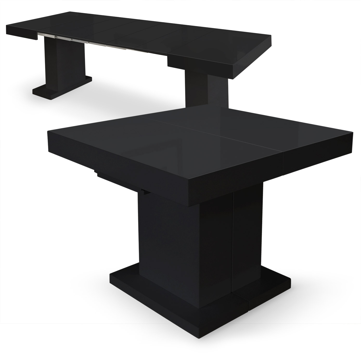 Table Ronde Extensible Noir Table Extensible Noire Maison Design Wiblia