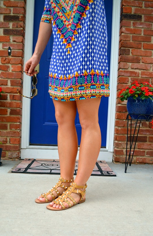 swell night hawk dress, rebecca minkoff studded sandals, ashley from lsr, illesteva sunglasses