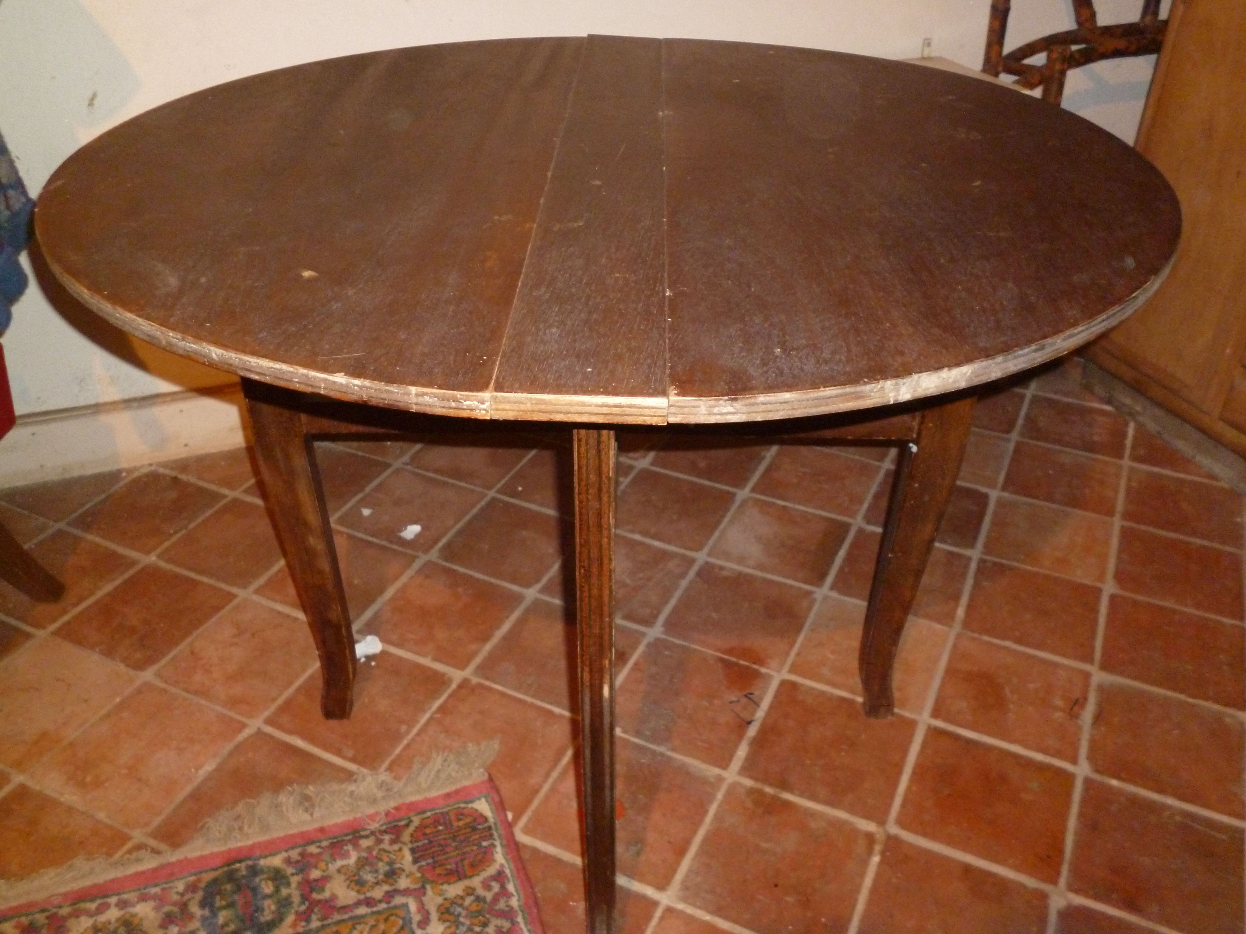Table Ancienne Ronde Table Ronde Pliante Ancienne
