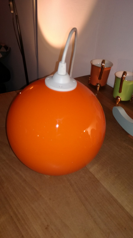 Suspension Verre Boule Suspension Verre Boule Orange Vintage - Les Vieilles Choses