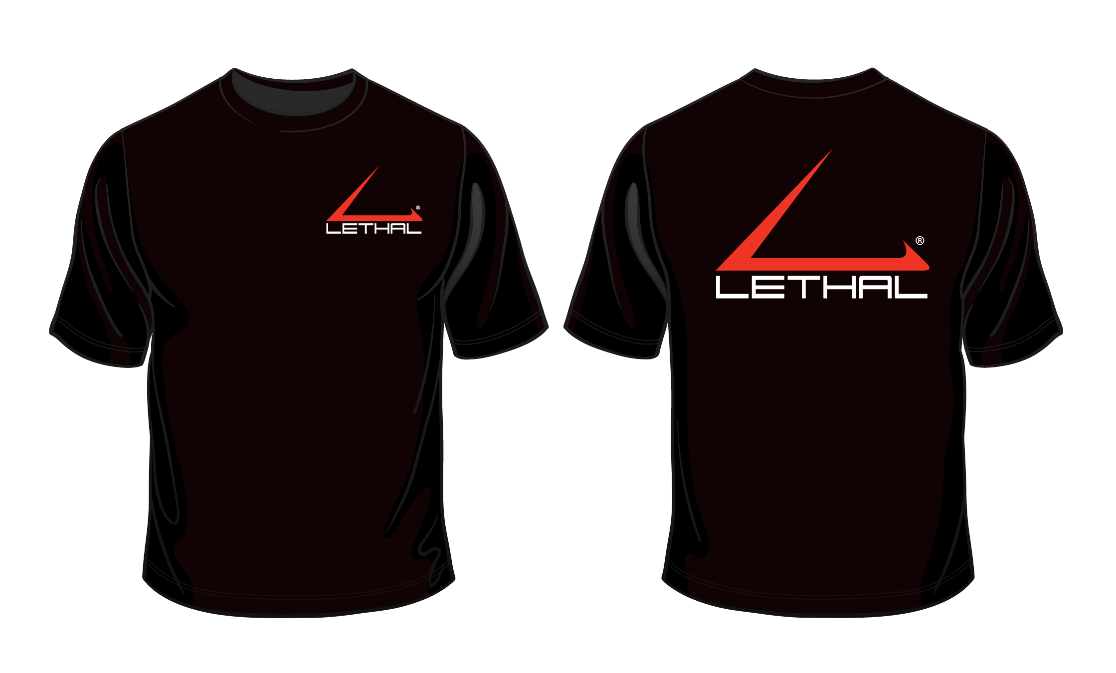 T Short Logo T Shirt Short Sleeve Black With Red And White Logo