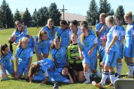 The Lethbridge College Womens' Kodiak Soccer Team. Oct.17.