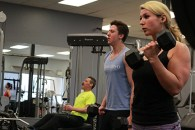 The Siemens family working out at Platinum Fitness on 28 March.