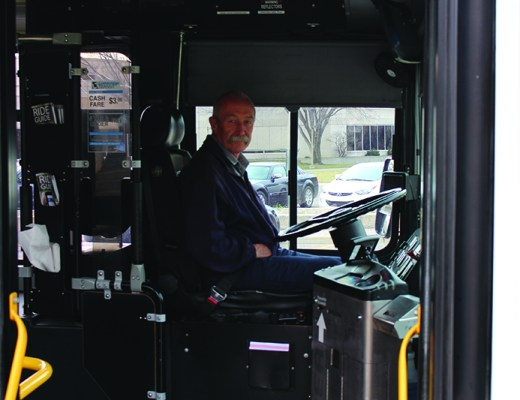 Lethbridge Transit driver Darryl Eby providing city residents with reliable transportation on Nov. 15.