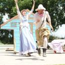 """Cole Fetting acting in the summer production, """"Comedy of Errors"""" in Galt Gardens."""
