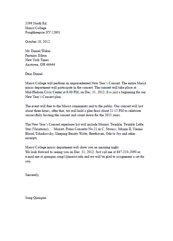 Email Pitch Letter Example | Professional resumes sample online