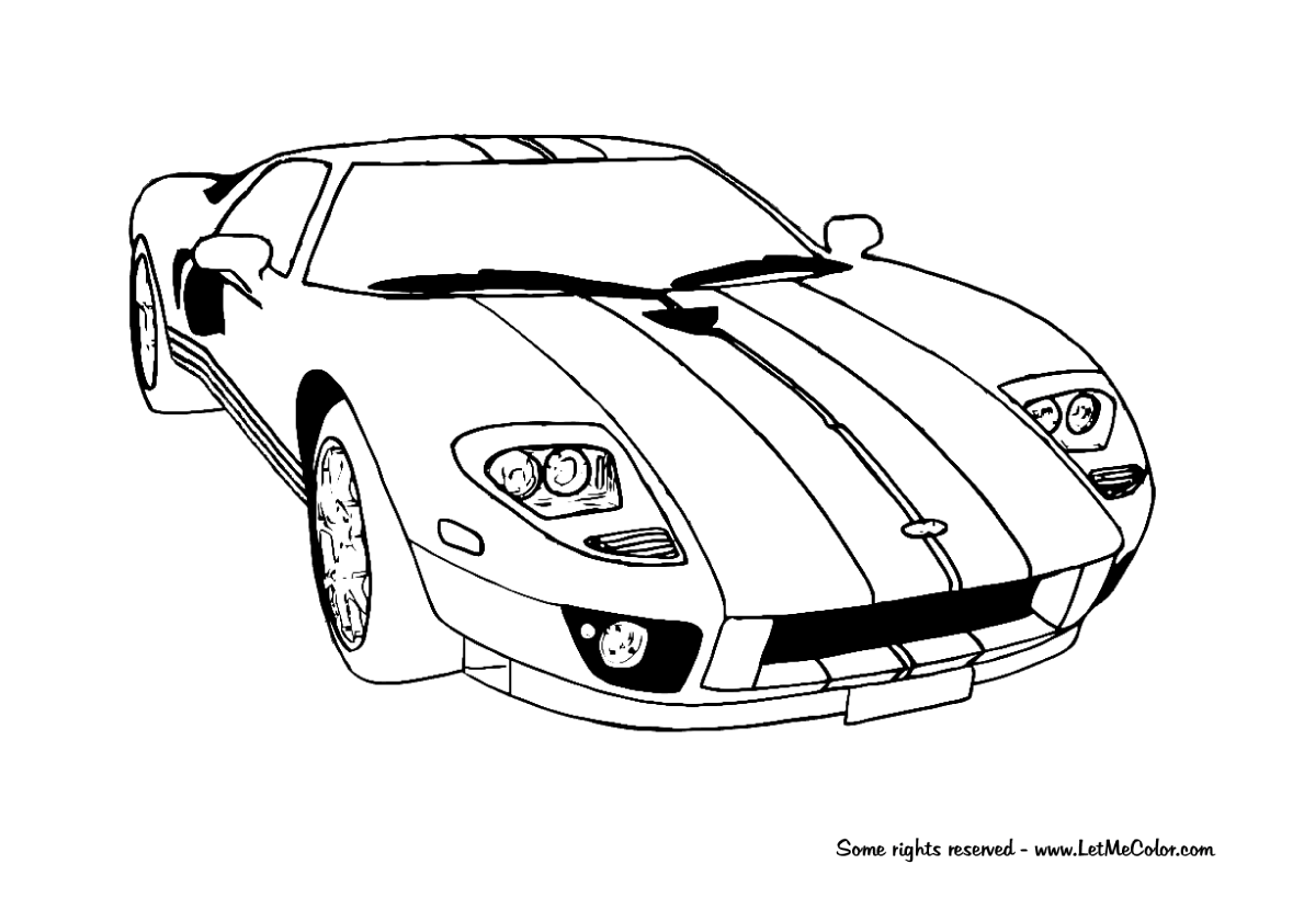 Asphalt 8 coloring pages - Asphalt 8 Coloring Pages Cars Coloring Page Ford Gt Download