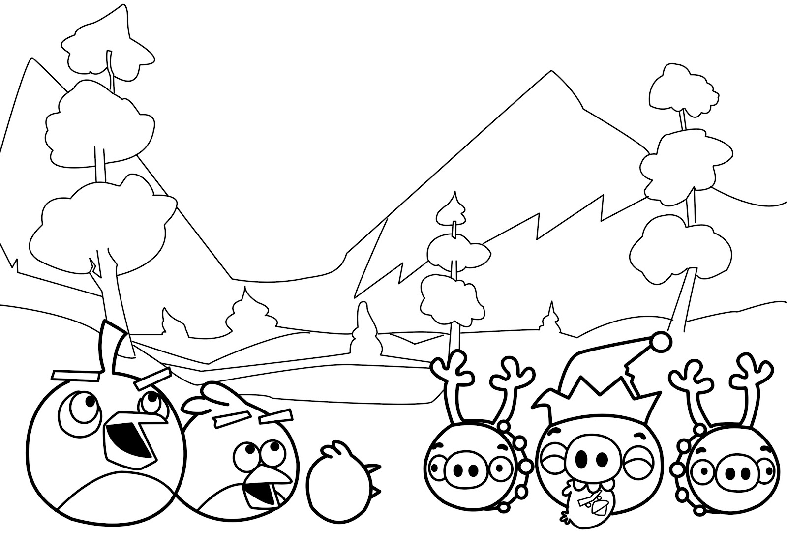Winter New Angry Birds Coloring Pages Page For SaveEnlarge