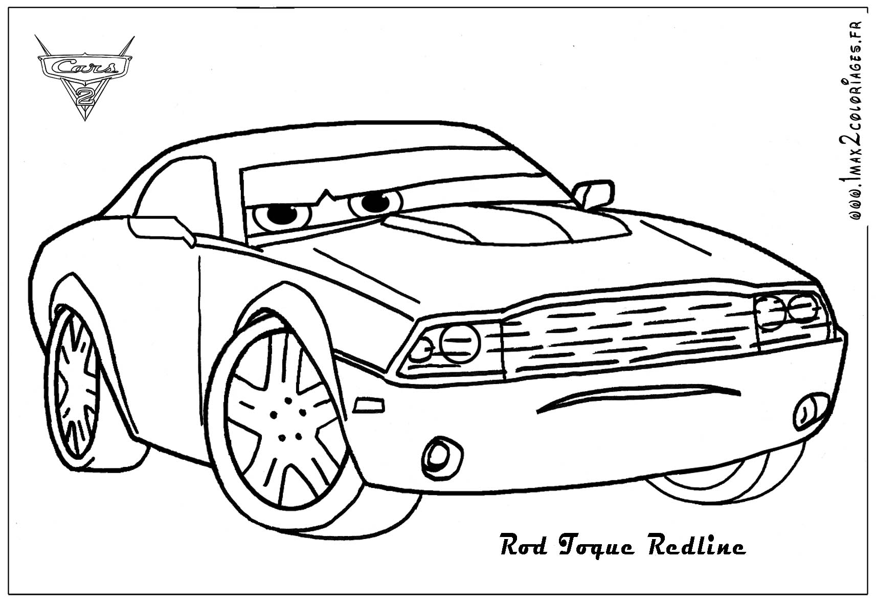 Cars 2 Coloring Pages - Democraciaejustica